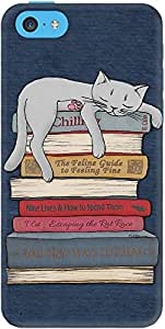 DailyObjects How to Chill Like A Cat Case For iPhone 5C