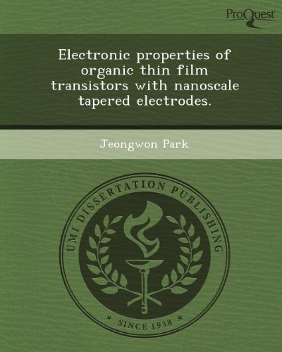 Electronic properties of organic thin film transistors with nanoscale tapered electrodes.