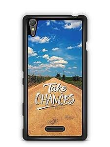 YuBingo Take Chances Designer Mobile Case Back Cover for Sony Xperia T3