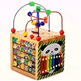 Vine® 6in1あそび箱 よくばりボックス マルチプレイセット 木のおもちゃ 子供 幼児 知育玩具(誕生祝い、こどもの日)