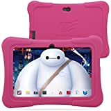 "Dragon Touch 7"" Quad Core Android Kids Tablet, with Wifi and Camera and Games, HD Kids Edition w/ Zoodles Pre-Installed (2015 New Model, Y88X with Pink Silicone Case)"