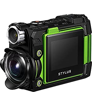 "Olympus 8 Waterproof TG-Tracker Digital with 1.5"" LCD, Black (V104180BU000)"