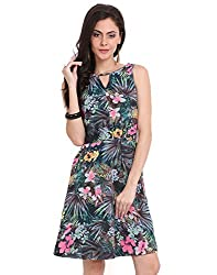 NEON TROPCAL CUT OUT DRESS Large