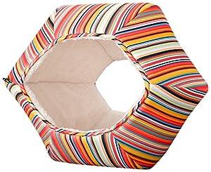 猫壱 猫の巣 ストライプ柄ベッド