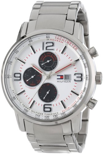 Tommy Hilfiger Men's 1710338 Casual Sport Multi-Eye and White Dial Watch