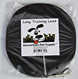 Long Dog Training Lead, Black