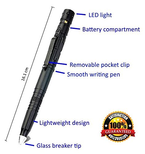 Tactical Pen for Survival and Self Defense Tool with Tungsten Tip Glass Breaker for Emergency Escape, 2016 Best Portable Military
