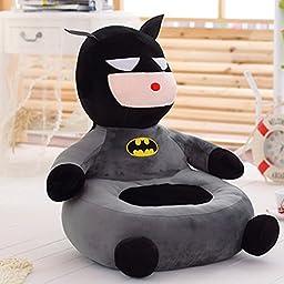 Follow918 Cartoon Lazy Batman Sofa Seat,Children Sofa Chair,Baby Preschool Plush Toy Tatami,Perfect Gifts for Boys and Girls,Grey