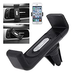Casotec Air Vent Car Mount Holder Stand Cradle For 4-5.5 inches Smartphones, GPS - Black