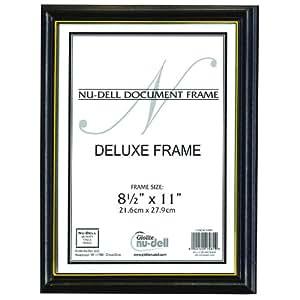 "8.5"" x 11"" Deluxe Wood Document Frame, Black"