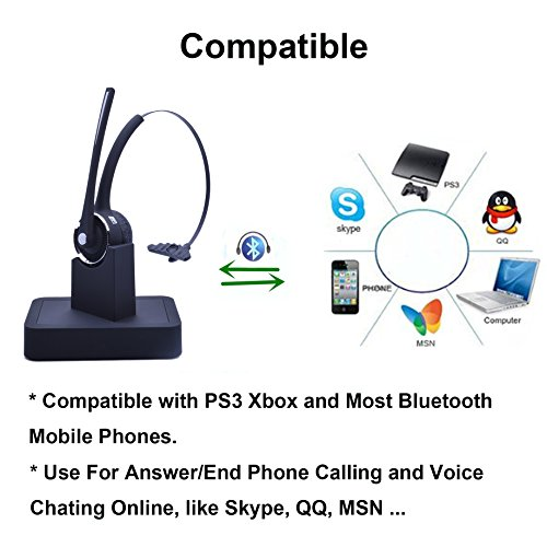 Bluetooth Headsets Wireless Bluetooth With Charging Dock