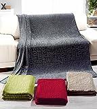 Rally Fashion Microfaser-Flausch-Decke ABC Beige 300187-4 Wohndecke Flauschdecke Kuscheldecke 150 x 200 cm