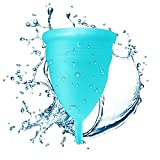 Blossom Menstrual Cup Is Better Than Diva Cup Hands Down! Say Yes to Menstrual Cups. Get Blossom Cups for Menstrual Cycle! (Large, Blue)