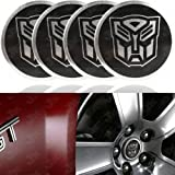 51 yLeLUz6L. SL160  Autobot Transformers (Silver/Black) Wheel Center Emblem (4pcs Set)