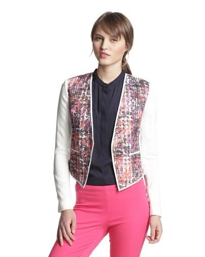 Elie Tahari Women's Monique Coco Tweed Front Jacket