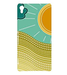 multicoloured traditional pattern 3D Hard Polycarbonate Designer Back Case Cover for Sony Xperia XA