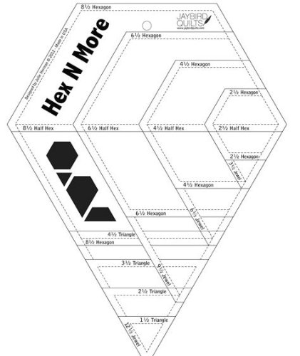 HEX N MORE RULER CUTS 4 SHAPES IN 4 SIZE RULER