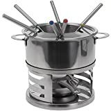 Kitchen - 10 PC LARGE STAINLESS STEEL CHOCOLATE FONDUE SET CHEESE PARTY DIPPING FORKS POT