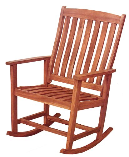 cheap 41 quot acacia wood rocking chair outdoor patio