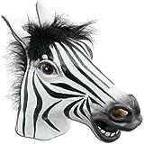 Signstek--Tiermaske aus Gummi/latex für Kostüm Halloween Karneval Fasching (Zebra)