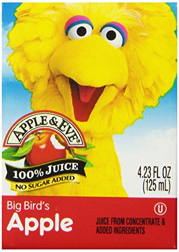 Apple & Eve Sesame Street Big Bird'S Apple Juice 4.23 Fl Oz, 8 Count (Pack Of 5) front-814020