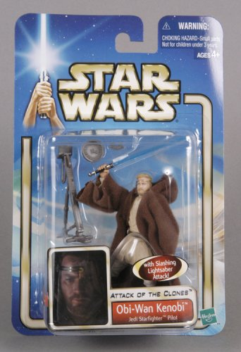 Star Wars AOTC Obi-Wan Kenobi Jedi Starfighter Pilot Action Figure