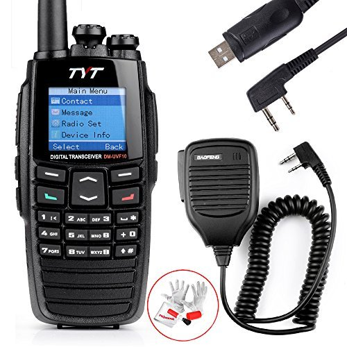 TYT 256CH 5W Two Way Radio DTMF Digital Walkie Talkie DPMR Ham Transceiver Dual-Band VHF+UHF 136-174+400-470MHz with USB Program Cable and BaoFeng Handheld BF-S112 Two Way Radio Speaker 3.5MM to 2.5MM (Digital Ham Radio compare prices)
