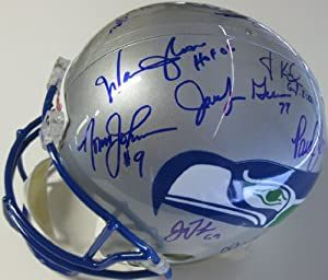 Seattle Seahawks, Legends, Signed, Autographed, Riddell Full Size Helmet, a COA with... by Coast to Coast Collectibles
