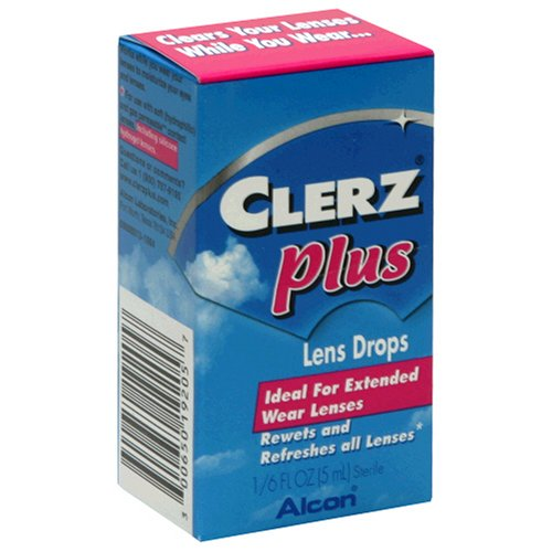 Clerz Plus Lens Drops, 1/6-Ounce (5 ml) Bottles, (Pack of 6)