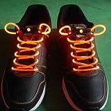 LED Light up Shoelaces Flash Shoestrings-Orange