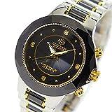 [ジョン・ハリソン]John Harrison セラミックダイヤソーラー電波レディース腕時計 JH-024LBB