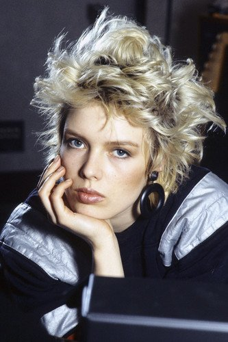 Kim Wilde 1980's blonde hair photo shoot Mini Poster
