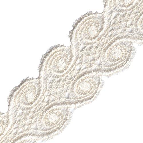 Venus Ribbon Venise Lace, 1-7/8-Inch, Ivory