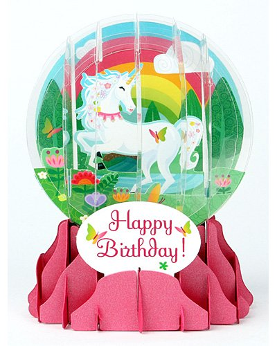 3D-Snow-Globe-UNICORN-Birthday-Card