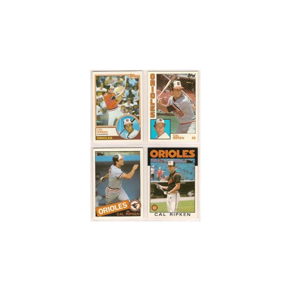 Cal Ripken Jr. (4) Card Topps Baseball Lot (1983 1984 1985 1986 Topps Cards) (Baltimore Orioles  Sports Related Trading Cards  Sports & Outdoors
