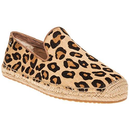 UGG scarpe donna espadrillas W SANDRINNE CALF HAIR LEOPARD TG 40