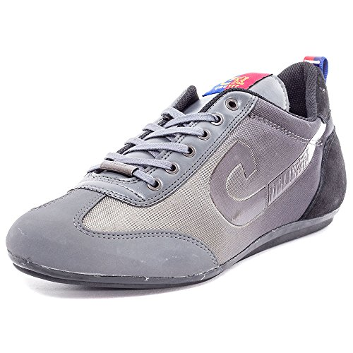 Cruyff Vicenzo Mens Leather & Textile Trainers Grey Black - 43 EU
