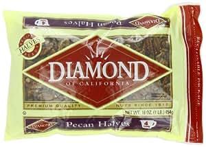 Diamond Pecan Halves, 16-Ounce Bags (Pack of 4)