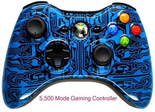 5,500+ Mode Modded Gaming Controller For Xbox 360 & Pc In Custom Blood Dragon Shell!!! Hydro-Dipped Shell (New High Quality Finish) Will Not Chip, Scratch, Or Fade -Sniper Quick Scope & Hold Your Breath,Jitter,Drop Shot,Jump Shot,Auto Aim And More.