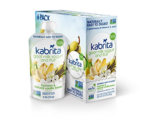 Kabrita Goat Milk Yogurt & Fruit - Banana & Natural Vanilla Bean - 4 oz - 6 pk - 1