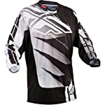 Fly Racing Kinetic Inversion Youth Boys MX/Off-Road/Dirt Bike Motorcycle Jersey - Black/White / Medium