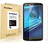 Motorola Droid Turbo 2 Screen Protector - IVoler Tempered Glass Screen Protector For Motorola Droid Turbo 2- 0.3mm 9H Hardness Featuring Anti-Scratch, Anti-Fingerprint, Bubble Free-