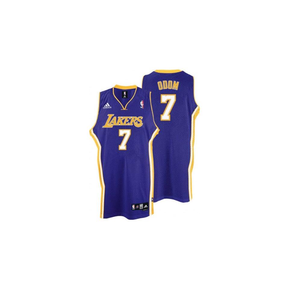 4566f4c1233 Lamar Odom Jersey adidas Purple Swingman #7 Los Angeles Lakers Jersey