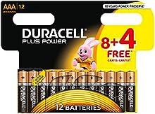 Comprar Duracell DUR018938 Plus - Pilas AAA (8 + 4 unidades)