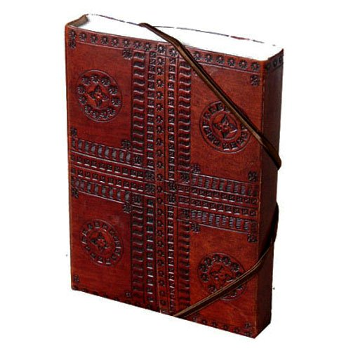 "Handmade Expressions Educational Products - Leather Journal - Blank - ""Hand Embossed"" 5"" x 7"" Cruelty Free Leather - Dimension: 5"" x 7"""