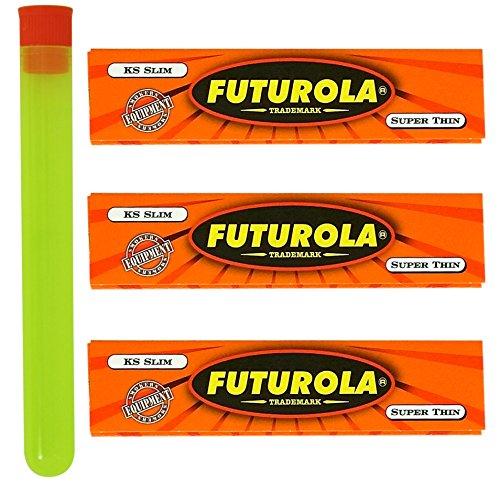 3 Packs - Futurola Orange King Size Rolling Papers w/ XL RPD Doob Tube (Futurola Rolling Machine compare prices)