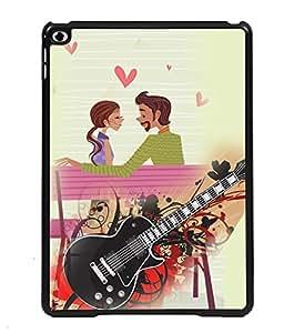 PRINTVISA Loving Couple with Gitter Premium Metallic Insert Back Case Cover for Apple IPad Air - D5762
