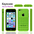 The Case for Apple iPhone 5C by KAYSCASE, Retail Packaging with Screen Protector (Green)
