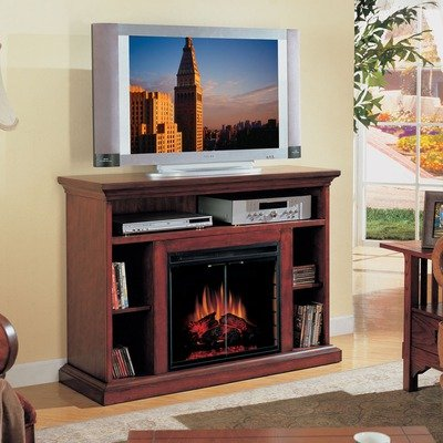 Cheap Beverly 48″ Fireplace & TV Stand in Premium Cherry Finish with 23EF025GRA Electric Insert (23WM374PCH-0202)