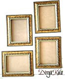 DivyaKala Golden Photo Frame (Wooden,4pc set)